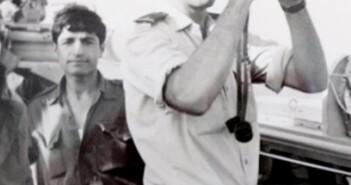 רוני פלג בגשר ספינת סער 1973