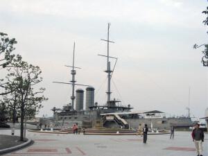 """אוניית המערכה """"מיקסה"""" כמוזיאון לזכר הניצחון היפני"""