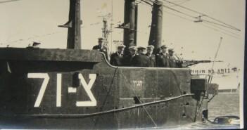 חשיפת סמלי הצוללן לפני הכניסה לנמל חיפה