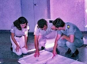 עבודת צוות על רצפת משרד יחידת הניסויים